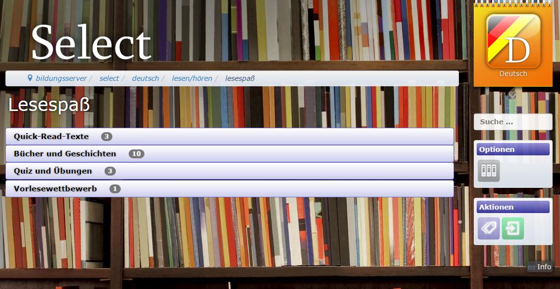 Select: Deutsch - Leseförderung